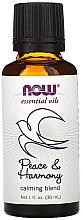 "Parfumuri și produse cosmetice Ulei esențial ""Amestec calmant. Pace și armonie"" - Now Foods Essential Oils Peace & Harmony"
