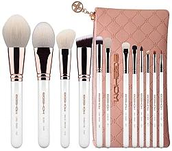 Parfumuri și produse cosmetice Set pensule pentru machiaj, 12 buc - Eigshow Classic Rose Gold Master Series