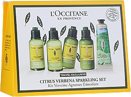 Parfumuri și produse cosmetice Set  - L'Occitane Citrus Verbena Sparkling Set (show/gel/50ml + shm/50ml + cond/50ml + b/milk/50 ml + h/cr-gel/30 ml)