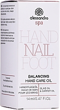 Parfumuri și produse cosmetice Ulei de îngrijire pentru mâini - Alessandro International Balancing Hand Care Oil