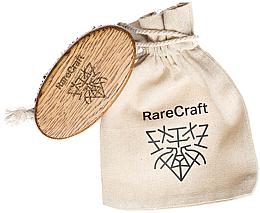 Parfumuri și produse cosmetice Perie din stejar pentru barbă, 11,5 x 6 cm - RareCraft