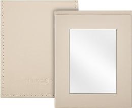 Parfumuri și produse cosmetice Oglindă tip carte de buzunar, bej - MakeUp Pocket Mirror Beige