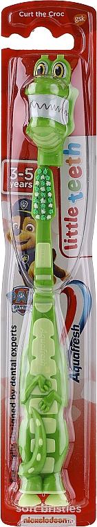 Periuță de dinți, pentru copii, crocodil verde - Aquafresh Soft — Imagine N1
