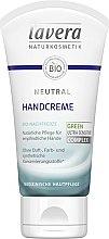 Parfumuri și produse cosmetice Cremă de mâini - Lavera Neutral Green Ultra Sensitive Complex Hand Cream