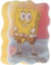 """Parfumuri și produse cosmetice Burete de baie """"SpongeBob"""", roz- albastru deschis - Suavipiel Sponge Bob Bath Sponge"""