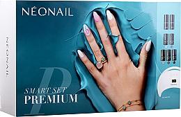 Parfumuri și produse cosmetice Set de manichiură, pentru începători - NeoNail Professional Smart Set Premium (n/polish/5x3ml + n/base/7.2ml + n/top/7.2ml + lamp/1pc + n/cleaner/50ml + n/remover/50ml + n/pads/250pcs + nail/file/2pcs)