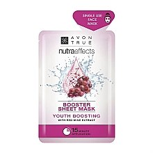 Parfumuri și produse cosmetice Mască cu extract de vin pentru față - Avon Nutraeffects Booster Sheet Mask