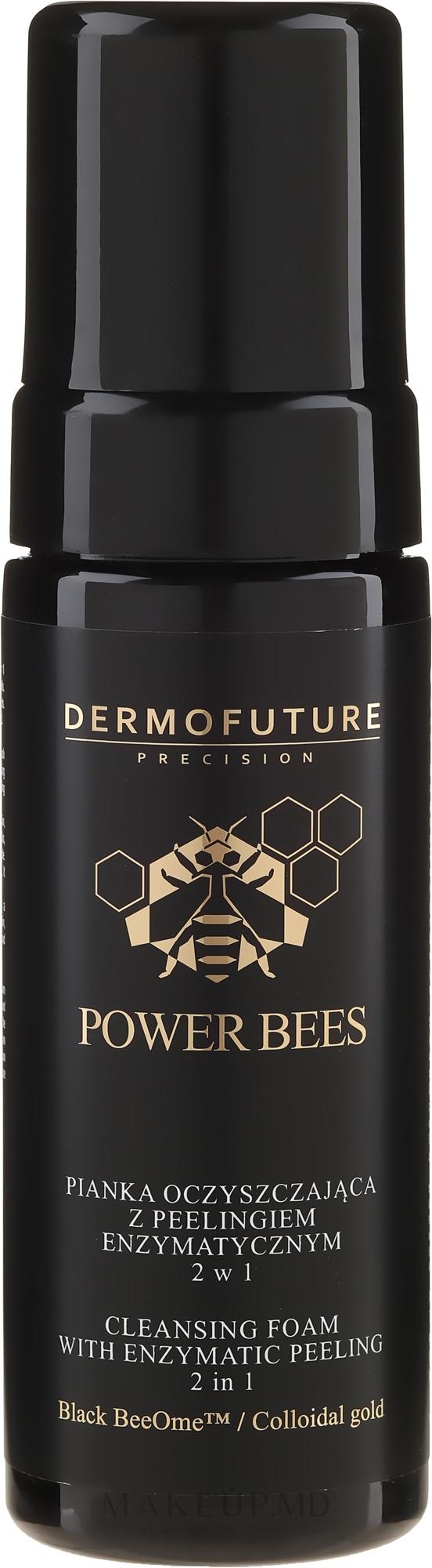 Spumă de curățare 2în1 - Dermofuture Power Bees Cleansing Foam 2in1 — Imagine 150 ml