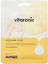 Parfumuri și produse cosmetice Mască din țesut pentru strălucirea tenului - SNP Prep Vitaronic Ampoule Mask
