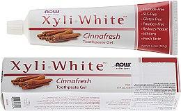 Parfumuri și produse cosmetice Pastă cu extract de scortisoară pentru dinți - Now Foods XyliWhite Toothpaste Gel