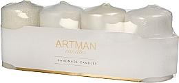 Parfumuri și produse cosmetice Set lumânări decorative, mix alb - Artman Candles (candle/4pcs)