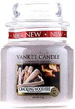 Parfumuri și produse cosmetice Lumânare în borcan din sticlă - Yankee Candle Crackling Wood Fire