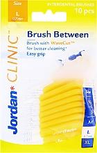 Parfumuri și produse cosmetice Perii interdentare L 0,7 mm, 10 bucăți, galben - Jordan Brush Between