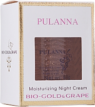 Parfumuri și produse cosmetice Cremă hidratantă cu bio-aur și extract de struguri, de noapte pentru față - Pulanna Bio-Gold & Grape Moisturizing Night Cream
