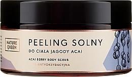 """Parfumuri și produse cosmetice Scrub de corp pe bază de sare """"Pomușoare Acai"""" - Nature Queen Body Scrub"""