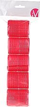Parfumuri și produse cosmetice Bigudiuri Velcro, 499594, roșii - Inter-Vion