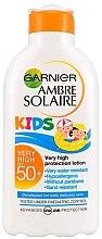 Parfumuri și produse cosmetice Lapte de protecție solară pentru copii - Garnier Ambre Solaire Resisto Kids SPF 50+