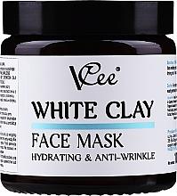 Parfumuri și produse cosmetice Mască cu argilă albă pentru față - VCee White Clay Face Mask Hidrating&Anti-Wrinkle
