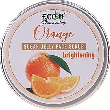 Духи, Парфюмерия, косметика Scrub iluminator cu jeleu de zahăr și portocale pentru față - Eco U Orange Brightening Sugar Jelly Face Scrub
