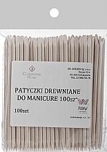 Parfumuri și produse cosmetice Bețișoare din lemn de portocal pentru manichiură, 100 buc. - Charmine Rose