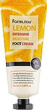 Parfumuri și produse cosmetice Cremă cu extract de lămâie pentru picioare - FarmStay Lemon Intensive Moisture Foot Cream