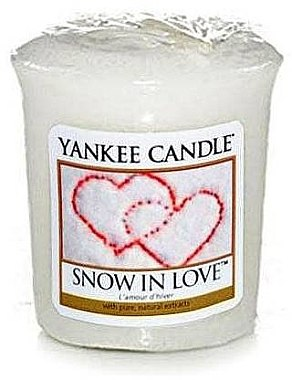 "Lumânare parfumată ""Snow in Love"" - Yankee Candle Scented Votive Snow in Love — Imagine N1"
