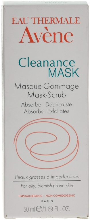 Маска-гоммаж абсорбирующая для глубоко очищения проблемной кожи - Avene Exfoliating Absorbing Cleanance Mask-Scrub
