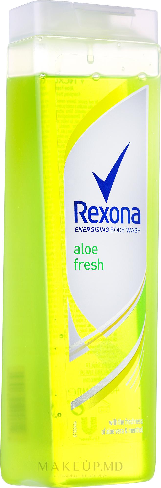 Gel de duș - Rexona Aloe Fresh Shower Gel — Imagine 400 ml