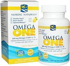 """Parfumuri și produse cosmetice Supliment alimentar cu aromă de lămâie """"Omega One"""", 560 mg - Nordic Naturals Omega One Lemon Flavor"""
