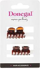 Parfumuri și produse cosmetice Agrafă pentru păr FA-5819, mini, maro, 4 buc. - Donegal Hair Clip