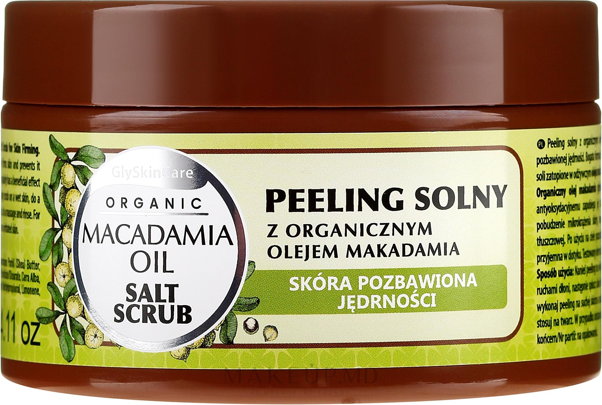 Peeling de sare cu ulei de macadamia - GlySkinCare Macadamia Oil Salt Scrub — Imagine 400 g