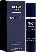 Parfumuri și produse cosmetice Fluid pentru față - Klapp Men Moist & Matt Oilfree Fluid