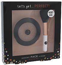 Parfumuri și produse cosmetice Set - Cosmetic 2K Let's Get Perfect! Bronzer Set Medium/Dark (bronzer/10g + brush/1pcs)