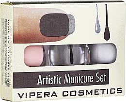 Parfumuri și produse cosmetice Set lacuri de unghii - Vipera Artistic Manicure Set (nail/pol/3x5,5ml) (01 -Cute French)