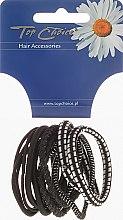 Parfumuri și produse cosmetice Elastice de păr 12 buc., negru + argintiu, 22340 - Top Choice