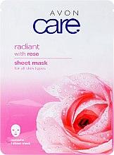 Parfumuri și produse cosmetice Mască iluminatoare cu extract de trandafir pentru față - Avon Care Radiant Sheet Mask With Rose