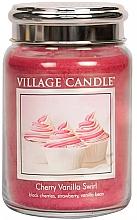 """Parfumuri și produse cosmetice Lumânare parfumată într-un borcan """"Vârtej de cireș-vanilie"""" - Village Candle Cherry Vanilla Swirl"""