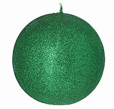 Parfumuri și produse cosmetice Lumânare decorativă, bilă verde, 8 cm - Artman Glamour