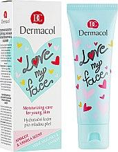 Parfumuri și produse cosmetice Emulsie pentru față cu aromă de caise și vanilie - Dermacol Love My Face Apricot & Vanilla Scent Face Cream