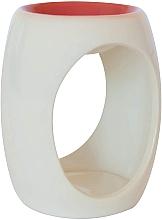 Parfumuri și produse cosmetice Lampă aromaterapie, din ceramică, albă cu blat orange - Airpure