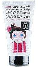 Parfumuri și produse cosmetice Balsam cu trandafir și miere de păr pentru copii - Apivita Babies & Kids Natural Baby Kids Conditioner With Honey & Rose Bulgarian