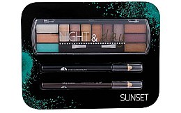 Parfumuri și produse cosmetice Set - Cosmetic 2K Night & Day (eye/sh/8,16g + eye/pen/2x0,6g)