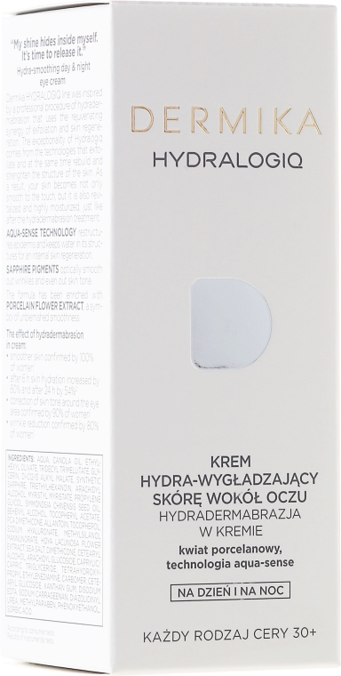 Cremă pentru conturul ochilor - Dermika Hydralogiq Eye Cream — Imagine N1