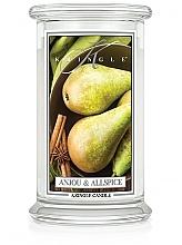 Parfumuri și produse cosmetice Lumânare aromatică, în borcan - Kringle Candle Anjou & Allspice