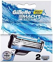 Parfumuri și produse cosmetice Casete de rezervă pentru aparat de ras, 2 buc - Gillette Mach3 Start