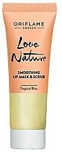Parfumuri și produse cosmetice Mască-scrub de zahăr 2 în 1 cu extract de mentă și lime pentru buze - Oriflame Love Nature Smoothing Lip Mask & Scrub
