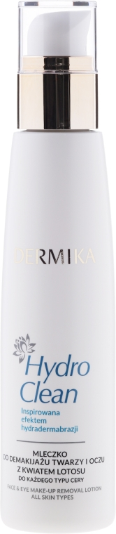 Loțiune demachiantă - Dermika Hydro Clean Face&Eye Make-up Lotion — Imagine N1
