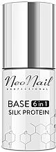 Parfumuri și produse cosmetice Bază pentru gel-lac 6 în 1 - NeoNail Professional Base 6in1 Silk Protein