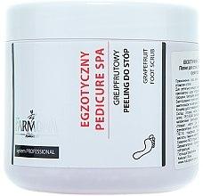 Parfumuri și produse cosmetice Peeling de sare pe bază de grapefruit pentru tălpi - Farmona Exotic Pedicure