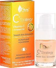 Parfumuri și produse cosmetice Cremă cu vitamina C pentru zona ochilor - Ava Laboratorium C+ Strategy Smooth Skin Stimulator Eye Contour Cream